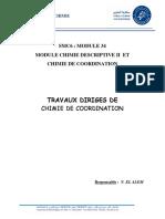 TD Chimie de Coordination