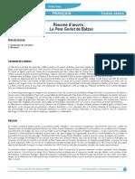 Resumé Balzac Père Goriot