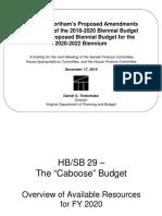 II - Budget Director's Presentation 12-17-2019 - FINAL