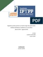 Analisis Del Balance Cambiario en La Era Macri