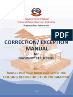 Correction-Exception Manual for Masonry Structure_NRA_May Edition