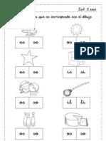 letra s discriminación fonética (directa e inversa)