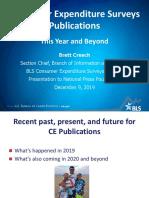 Consumer Expenditure Surveys Publications