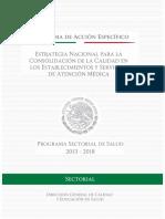 Estrategia Nacional para la Consolidación de la Calidad en los Establecimientos y Servicios de Atención Médica  2012-2018