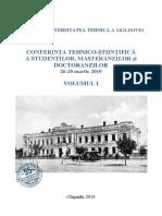 Conf Tehn St Colaboratori Doctoranzi Studenti Vol I 2019 DS