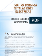 Requisitos Para Las Instalaciones Electricas