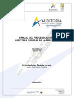 manual del proceso auditor MPA 7.0 de la Auditoria general de la republica