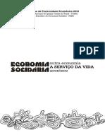 Cartilha Economia Solidaria Outra Econ a Serviço Da Vida Acontece