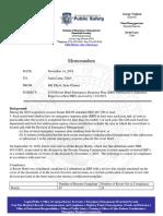 Letter from state planner Bill Elliott to Emergency Management Chief Justin Luna