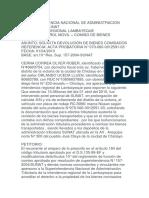 SOLICITUD DE DEVOLUCION DE BIEN INCAUTADO