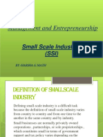 SSI [Small Scale Industries]