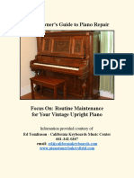 upright piano maintanance