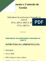 Indicadores de performance baseados no valor
