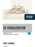 3D Consolidation