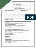 Curriculum Rogelio Sanchez Marcos