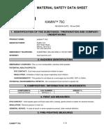 KaMin 70C MSDS