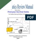 Math Review Manual