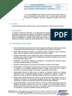 SIG-P-06 Procedimiento para Comunicacion Interna, Externa, Participacion y Consulta