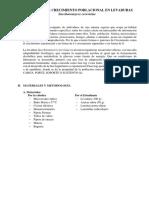 PRÁCTICA N° 05 CRECIMIENTO POBLACIONAL EN LEVADURAS