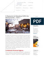5 Reasons to Develop SOPs for Restaurants - Part I | YRC