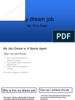 my job choice is  an sports agent