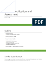 9.Model Specification and Assessment