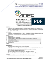 12 NT SCIE - SISTEMAS AUTOMÁTICOS DE DETECÇÃO DE INCÊNDIO ref.VII.III.01 20070531