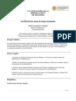 requisitos de  solicitud de arma de fuego