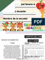 CUADERNO PARA DESARROLLAR LA COMPRENSIÓN LECTORA 5o Y 6o GRADO