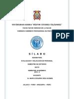 modelo SILABO DE EVALUACION Y SELECCIÓN DE PERSONAL