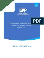 Lineamientos de Formación y Promoción Rev 16DIC2019