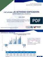 Informe de Actividad Edificadora Julio