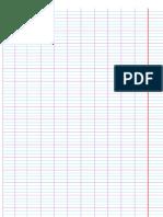 ورقة كراس مخططة للكتابة ورقة مسطرة Pdf