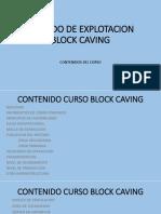 Metodo de Explotacion Block Caving