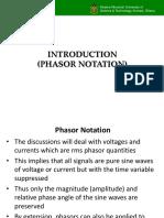 General Considerations_Phasor Notation
