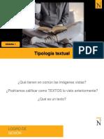 P1-Tipología textual y niveles de comprensión lectora