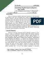 Problems of Translating English Sports Register into Arabic