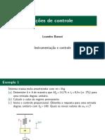 Exercícios resolvidos de instrumentação e controle