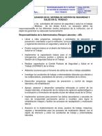 Responsabilidades en El Sistema de Gestión de Seguridad y Salud en El Trabajo Andes