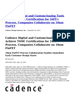Cadence-Digital-and-Custom-Analog-Tools-Achieve-TSMC-Certification-for-16FF-Process-Companies-Collaborate-on-10nm-FinFET