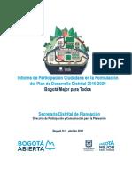 informe planeacion localidad 12