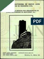 Riesgos Geologicos en Monterrey