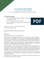 I.1. Ley de Planificación Urbana
