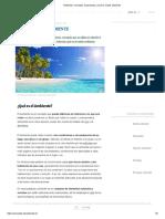 Ambiente_ Concepto, Acepciones y Qué es medio ambiente