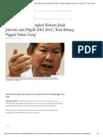 Adik Prabowo Bongkar Rekam Jejak Jokowi