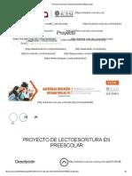 PROYECTO DE LECTOESCRITURA EN PREESCOLAR