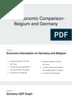 Belgium and Germany Economic Comparison