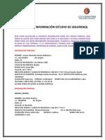 FORMATO DE INFORMACIÓN ESTUDIO DE SEGURIDAD