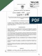 DECRETO 1562 DEL 30 DE SEPTIEMBRE DE 2016