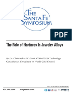 The Role of Hardness in Jewelry Alloys